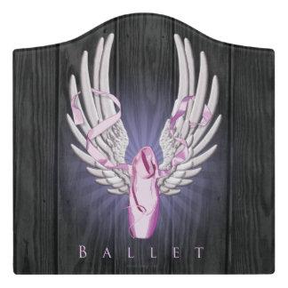 Winged Ballet (Dance) Door Sign