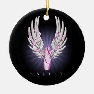 Winged Ballet (Dance) Round Ceramic Decoration