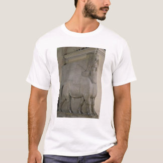 Winged bull at a facade of King Sargon II's T-Shirt