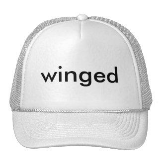 winged cap