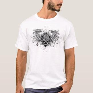 Winged Celtic Knot Irish Urban Tattoo Wedding T-Shirt