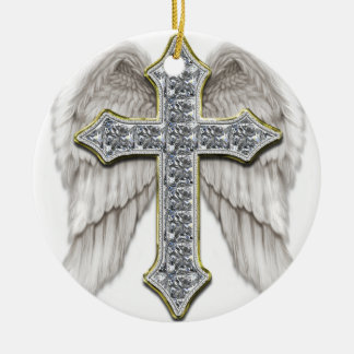 Winged Cross Christmas Ornament