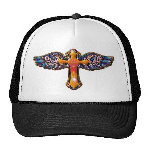Winged Cross Mesh Hats