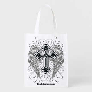 Winged Cross Reusable Bag Reusable Grocery Bag