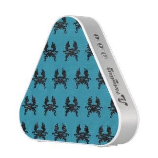 Winged Crown Crest Black Blue