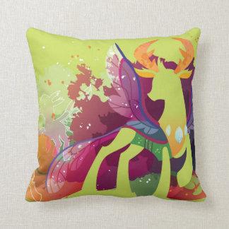 Winged deer cushion