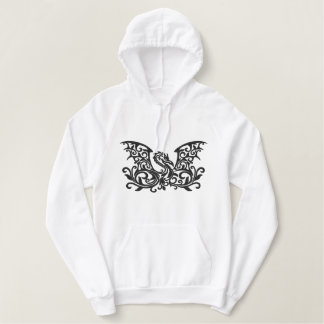 Winged Dragon Embroidered Hoodie