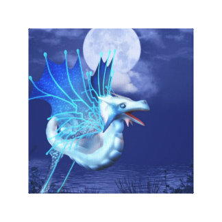 Winged Dragon in Flight Canvas Print