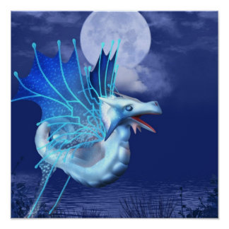 Winged Dragon in Flight Poster
