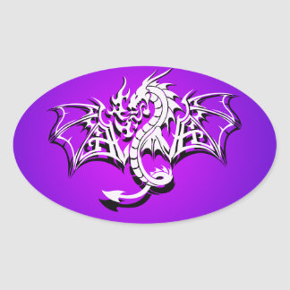Winged Dragon Oval Sticker