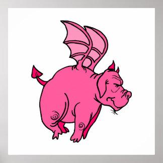 Winged Dragon Print
