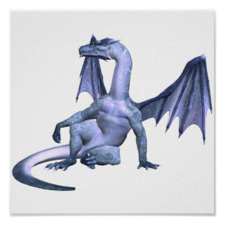 Winged Dragon Poster