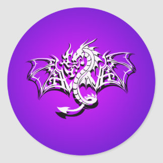 Winged Dragon Round Sticker