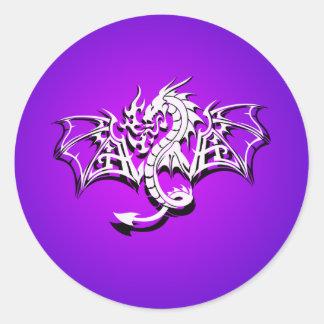 Winged Dragon Round Sticker