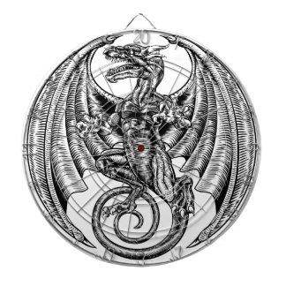 Winged Dragon Woodcut Dartboard