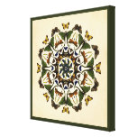 Winged Earth Butterfly Kaleidoscope Art Canvas Canvas Print