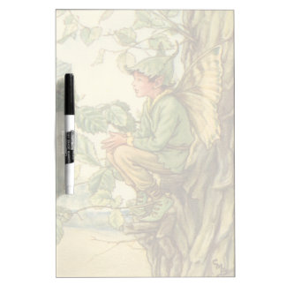 Winged Elm Fairy Sitting in a Tree Dry Erase Board