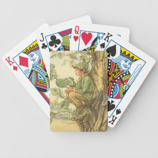 Winged Elm Fairy Sitting in a Tree Poker Deck