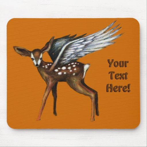 Winged Fawn Mousepad
