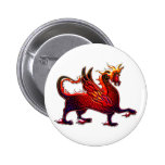 winged fire dragon pinback button