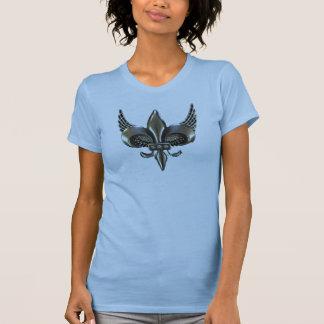 WINGED FLEUR-DE-LIS DISTRESSED PEWTER T-Shirt