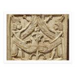 Winged genii, Assyrian Period, c.750 BC (ivory)