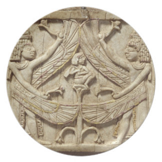 Winged genii, Assyrian Period, c.750 BC (ivory) Party Plates