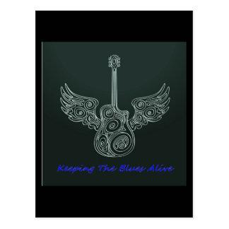 Winged Guitar Postcard
