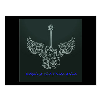 Winged Guitar Postcard