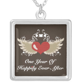 Winged Heart 1st Anniversary Necklace