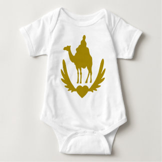 Winged-Heart-Camel-.png Baby Bodysuit