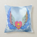 Winged Heart Cloud pillow