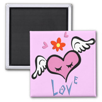 Winged Heart Refrigerator Magnets