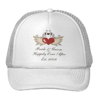 Winged Heart Personalized Custom Wedding Hat