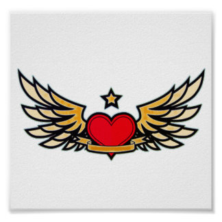 Winged Heart Poster