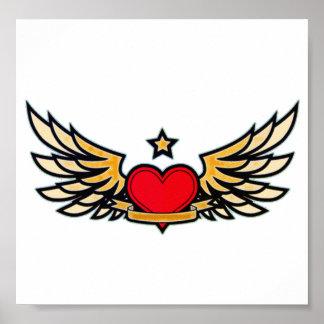 Winged Heart Print