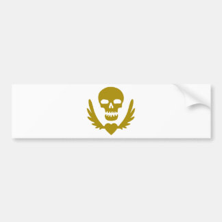 Winged-Heart-Skull.png Bumper Sticker