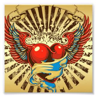 Winged heart tattoo photo art