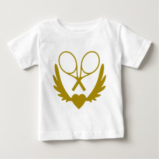 Winged-Heart-Tennis-.png Baby T-Shirt