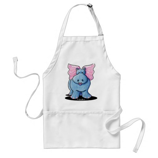 Winged Hippo Aprons