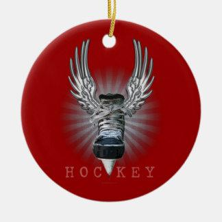 Winged Hockey Christmas Ornament