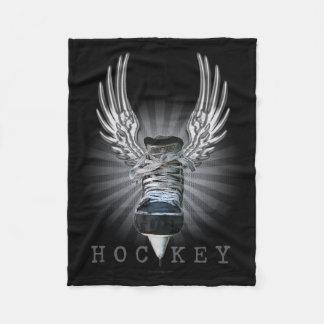 Winged Hockey Fleece Blanket