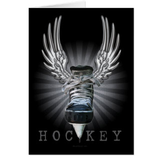 Winged Hockey Greeting Cards