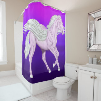 Winged Horse Pegasus Shower Curtain