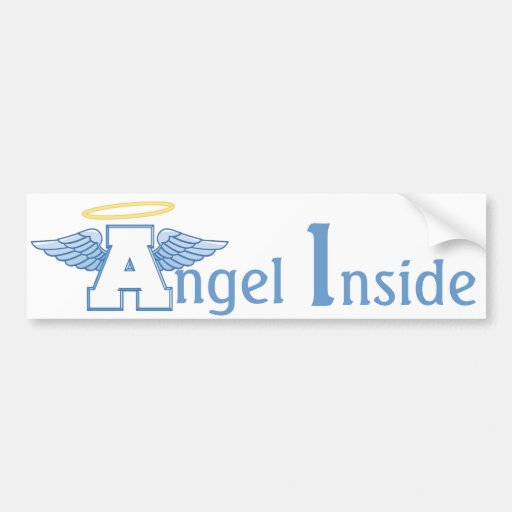Winged Letter A Bumper Sticker