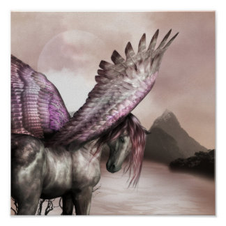 Winged Pegasus Poster