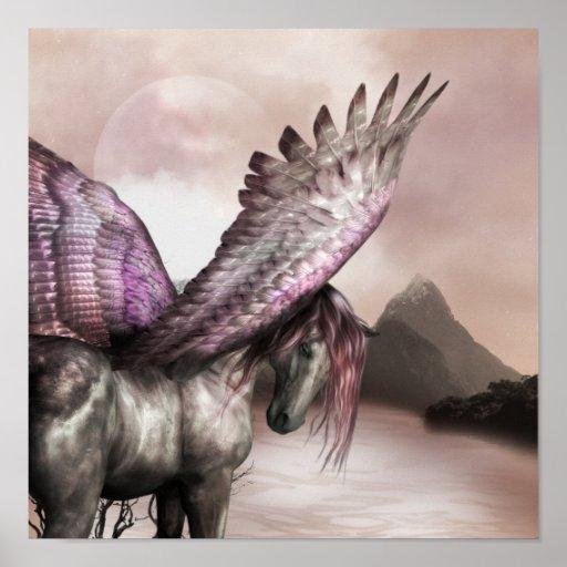 Winged Pegasus Poster