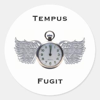 Winged Pocket Watch Classic Round Sticker