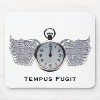 Winged Pocket Watch Mouse Mat