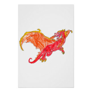 Winged Red Dragon